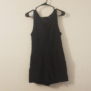 One Clothing Black Lace Romper